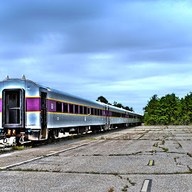 Abandoned T by Sara Whitney - Transportation Trains ( hdr, transport, train, transportation, hdr photography )