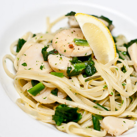 Linguine with Caramelized Scallops and Broccoli for # ...