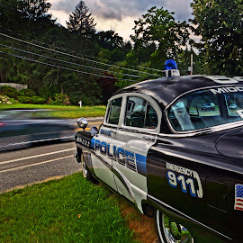 ...Car 54, Where are you? by Jeff Stallard - Transportation Automobiles ( car, police, middleton, speed, massachusetts, antique, chevy )