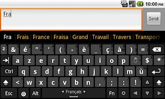 Screenshot of French dictionary (Français)
