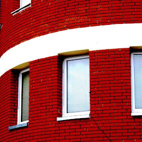 by Vesna S. Disić - Buildings & Architecture Other Exteriors ( modern, different, urban, new, building, window, vesna s. disic, brick, belgrade, bricks, architecture )
