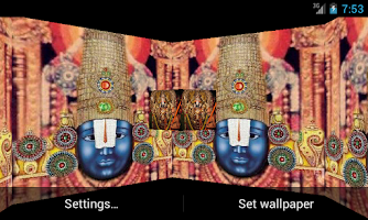 Screenshot of Tirupati Bala Ji 3D LWP