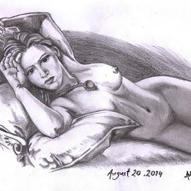 Rose by Ashwini Dey - Drawing All Drawing ( rose, sketch, girl, nude, titanic, art, kate winslate, ashwini dey, john dawson, leonardo dicaprio, pencil sketch, drawing )
