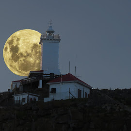 Luna Lighthouse by Sean Snyman - Digital Art Places ( luna, lighthouse, landscape )