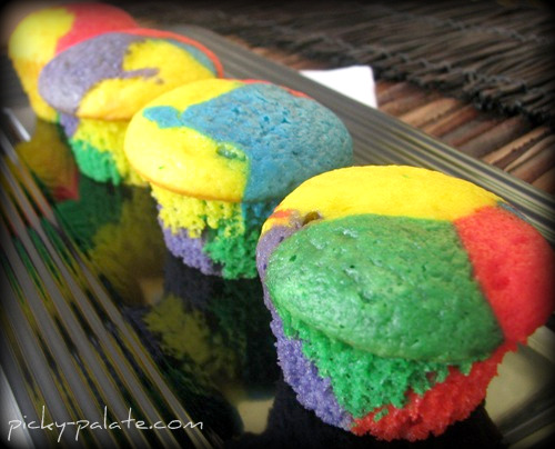 Rainbow Bright Cupcakes Recipe | Yummly