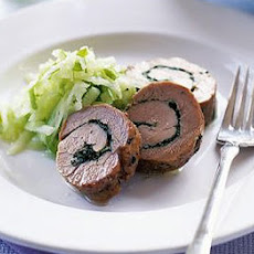 Herby Garlic Rolled Pork With Apple Salad