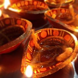 Diya....light of faith by Rituparna Bose - Artistic Objects Other Objects ( diwali, diya )