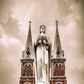 St. Mary by Thomas Liesener - Buildings & Architecture Statues & Monuments ( canon, churches, statues, vietnam, travel, architecture, public, canon eos, religious )