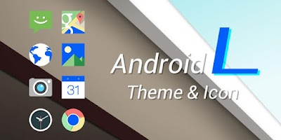 Screenshot of Android L Icons & Weather Skin