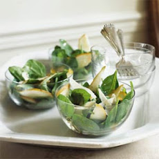 Spinach-Pear Salad with Mustard Vinaigrette