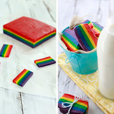 Rainbow Slice and Bake Sugar Cookies