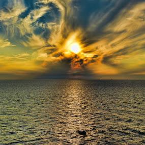 Sunset by Paulus Soegriemsingh - Landscapes Sunsets & Sunrises ( , color, colors, landscape, portrait, object, filter forge )