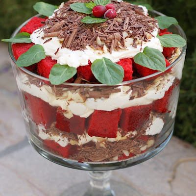 Red Velvet Cake Trifle