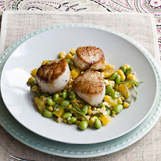 Pan-seared Scallops with Summer Succotash