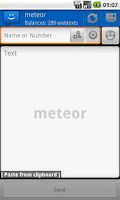 Screenshot of WebSMS: Meteor Webtext