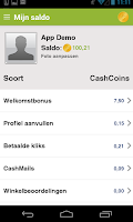Screenshot of CashbackKorting