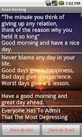 Screenshot of Good Morning Messages