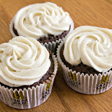 Spicy Dark Chocolate-Coffee Cupcakes with Cardamom Buttercream