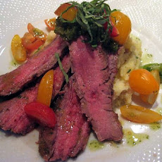 Ginger Flank Steak with Sake-Glazed Vegetables