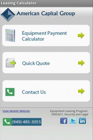 Equipment Leasing Calculator
