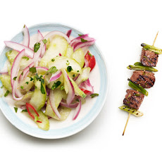 Thai Beef Skewers With Pickled Cucumbers