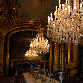 Napoleon's Dining Room by Tristan Garisson - Buildings & Architecture Other Interior ( paris, chandelier, louvre, napoleon, dining, france, room,  )