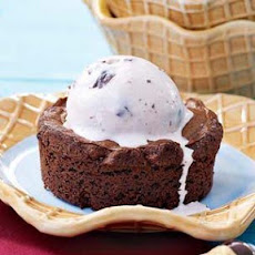 Grill-Baked Brownies with Bing Cherry Ice Cream