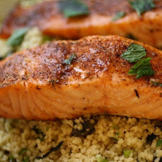 Blackened Salmon with Crunchy Coconut Couscous