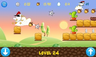 Screenshot of Ninja Chicken
