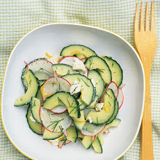 Cucumber Salad with Radish and Dill