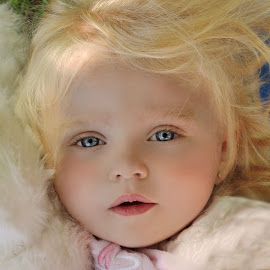 Pure Beautiful by Cheryl Korotky - Babies & Children Child Portraits ( child model peyton, blonde hair, a heartbeat in time photography, amazing faces, beautiful children, blue eyes, beauty, pretty, portrait, etherial )
