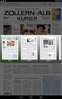 Screenshot of Zollern-Alb-Kurier ePaper