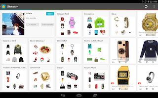 Screenshot of Showcase -Your shopping trends