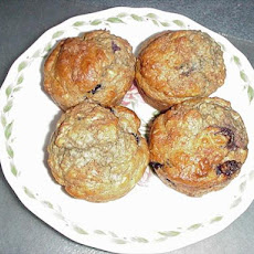 Magickal Banana Apple Raisin Oatmeal Bran Muffins