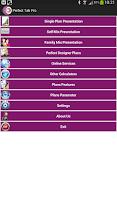 Screenshot of PERFECT TAB PRO - LIC Software