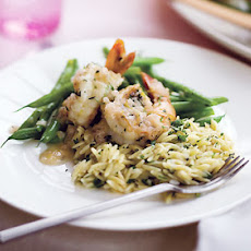 Roasted Shrimp with Champagne-Shallot Sauce