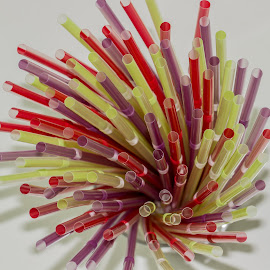 Drinking Straws by Fares Ghneim - Artistic Objects Cups, Plates & Utensils ( plastic, drinking, drink, straws, colours )