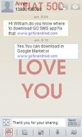 Screenshot of GO sms FIAT 500 theme