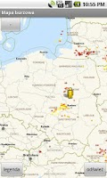 Screenshot of Mapa burzowa i pogodowa