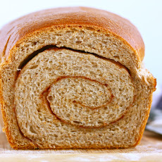 Whole Wheat Cinnamon Swirl Bread