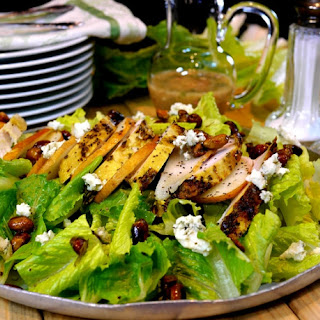 Grilled Chicken, Pear, Gorgonzola, Candied Pistachio Salad with Pear Gorgonzola Dressing