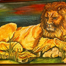 The Last King by Amit Kumar - Painting All Painting ( lion )