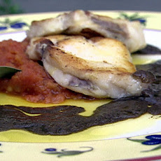 Monkfish with Olive Sauce and Tomato Compote