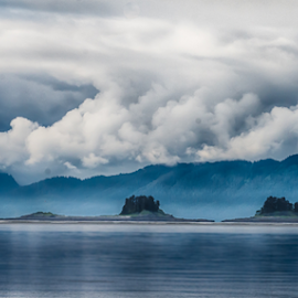 Alaskan dreamscape by Kathy Dee - Landscapes Waterscapes ( clouds, hills, cruising, dreamy, alaska, sea, ocean, tourism, boat, coastal, cruise, coast, amazing, vacation, blue )