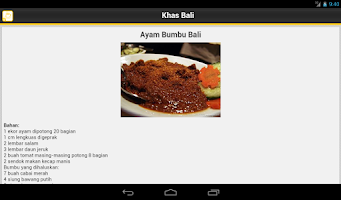 Screenshot of Resep Masakan Bali