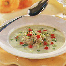 Buttermilk Soup with Cucumber and Crab