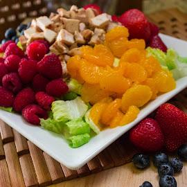 Bistro Chicken Salad by Danielle Benbeneck - Food & Drink Plated Food ( chicken, salad, dinner, plated, food, restaurant, berries,  )