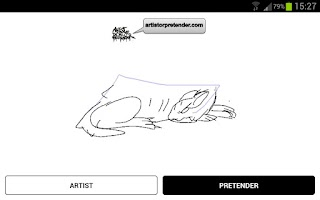 Screenshot of rate art - Artist OR Pretender