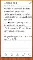 Screenshot of EasyNote Notepad   To Do List