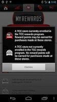Screenshot of TCC Rewards